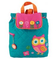 Owl Quilted Backpack